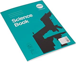 RHINO Stationery Science Book | A4 | 64 Page | 8mm Lined With Margin & 1:5:10 Graph Paper On Alternate Pages | Green | Lea...