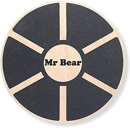MR Bear Tabla de equilibrio con un diámetro de 40 cm, tabla de entrenamiento profesional para fitness, entrenamiento de rehabilitación, coordinación y fuerza