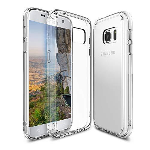 Wlife Hülle Kompatibel mit Samsung Galaxy S7,Anti-Vergilbung Slim Transparent Hochwertig TPU Weiche Handyhülle,Anti-Scratch Stoßfest Silikon Schutzhülle für Galaxy S7