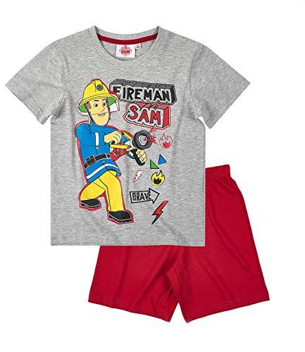 Feuerwehrmann Sam Jungen Shorty-Pyjama - grau - 110