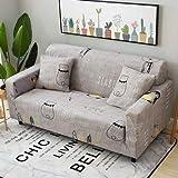 ASCV Juegos de sofás de Tela elástica Funda de sofá Universal con Todo Incluido Toalla de Cubierta Cojín de sofá de Cuero de Verano Europeo A1 1 plazas
