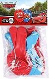 Amscan Cars Luftballon Set, 6 Stück,blau und rot, ca. 27 cm