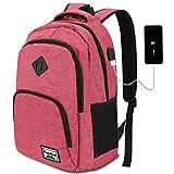 YAMTION Zaino Porta PC,Zaino Scuola Portatile da 15.6 Pollici Laptop Zaino con Porta USB Zaino Scuola per Donne,35L