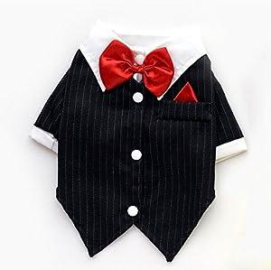 smalllee _ LUCKY _ ranger Noir Smoking de mariage Parti Costume Manteau pour homme garçon Petit Vêtements pour chien Costume S M L XL XXL