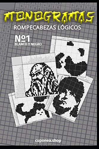 Monogramas: Rompecabezas Lógicos (Blanco y Negro)