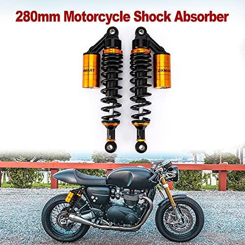 OXMART 11inch 280mm Universal Motorcycle Shock Absorber Rear Suspension ,Adjustable Air Shock Absorber ,Fit For Honda Suzuki Yamaha Kawasaki ATV Go Kart Quad Dirt Sport Bikes
