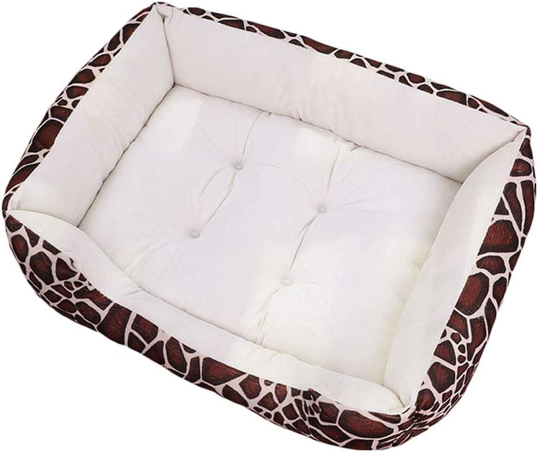 Pet nest Comfortable fast velvet PP cotone Mattress adatto per cani Gatti piccoli animali Pet nest (colore:White A, Dimensione: L)