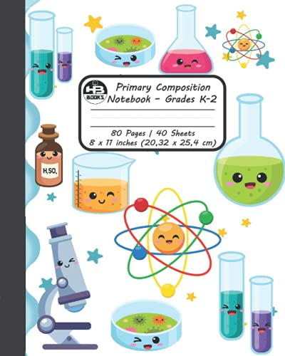 Primary Composition Notebook: Kawaii Lab Composition Notebook   Draw and Write Grades K-2   Primary Journal: Early Creative Story Journal Tablet   ... Journal Notebook for Boy and Girls