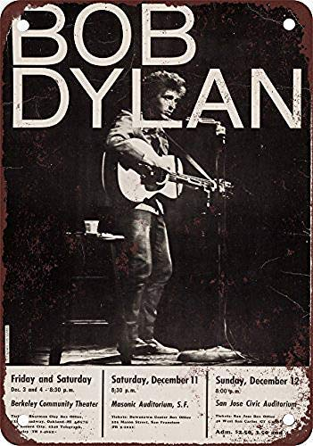 Froy 1965 Bob Dylan At Berkeley Sf San Jo Wall Tin Sign Retro Iron Poster Painting Plaque Metal Sheet Vintage Personalized Art Creativity Decoration Crafts For Cafe Bar Garage Home