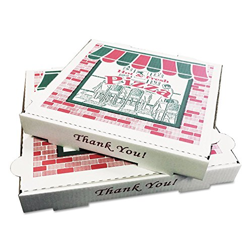 General Supply PZCORE10 Takeout Containers 10in Pizza White 10w x 10d x 1 3/4h 50/Bundle
