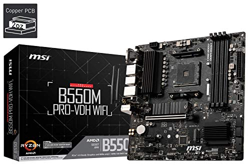 Photo of MSI B550M PRO-VDH WIFI Motherboard mATX, AM4, DDR4, M.2, LAN, Wi-FI, USB 3.2 Gen1, Front Type-C, HDMI, DisplayPort, AMD RYZEN 3000 3rd Generation