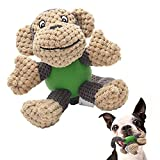 EETOYS Squeaky Plush Dog Toy Durable Small Dog Toys Low Stuffing Interactive Dog Plush Toys Squaker...