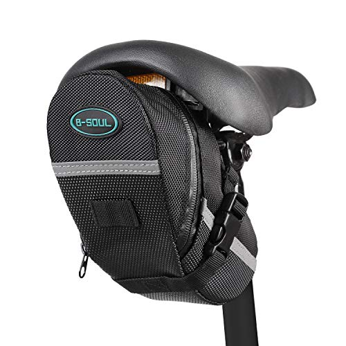 Find Cheap Dominick Bike Saddle Bag Water Resistant Bicycle Under Seat Pouch Wedge Packs with Reflec...