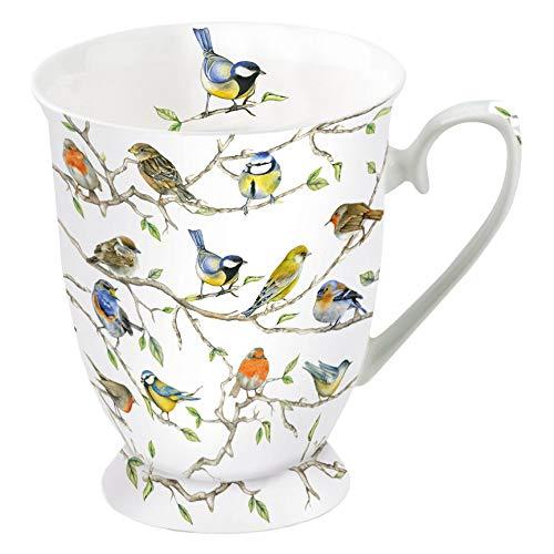 Ambiente Porzellan Becher Mug Tasse Tee / Kaffee ca. 0.25L Birds Meeting