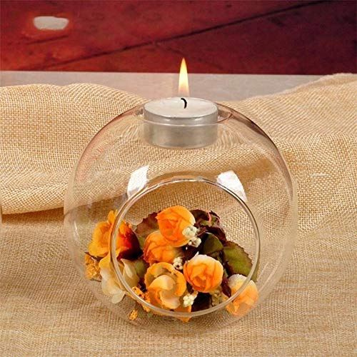 SMXGF Nordic Table Glass kaarshouder Terrarium Bauble Transparante Vaas Kandelaar Lamp Wedding Home Decor