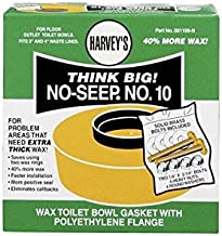 Harvey Toilet Bowl Gasket With Flange No. 10 Brass, Polyethylene