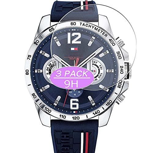 VacFun 3 Piezas Vidrio Templado Protector de Pantalla, compatible con Tommy Hilfiger 1791476 watch, 9H Cristal Screen Protector Protectora Reloj Inteligente