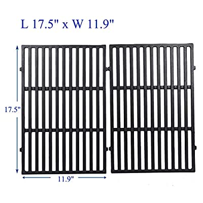 """Sente Grid Grate Replacement for Charbroil, Coleman, Kenmore, Master Forge, Thermos, Uniflame, Master Forge and Others, 2-Pack Porcelain Coated Cast Iron Cooking Grid(13 1/8"""" x 18 1/4"""" Each)"""