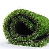 Synthetischer Kunstrasen Teppich für den Innen und Außenbereich, Florhöhe 35 mm, ideal als Teppich für Hunde, Garten und Fußmatte, gummierte Unterseite mit Drainagelöchern (1m(W)*4m(L))