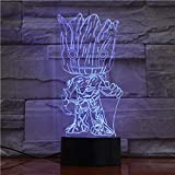 3D Nachtlicht Baby Wächter Der Galaxie Actionfiguren Nettes Modell Spielzeug 3D Nachtlampe Led Licht Weihnachtsgeschenke Kinder Hobbys