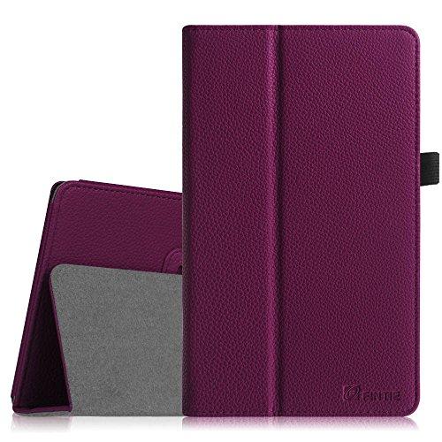 Dell Venue 8 Pro Hülle Case - Fintie Folio Case Schutzhülle Etui Tasche mit Stylus-Halterung für Dell Venue 8 Pro 5000 Series/New Venue 8 Pro 3000 Series (2014) Windows 8.1 Tablet, Lila