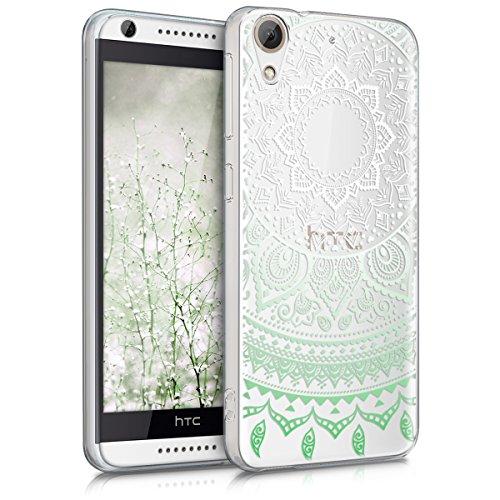 kwmobile Hülle kompatibel mit HTC Desire 626G - Handyhülle - Handy Case Indische Sonne Mintgrün Weiß Transparent
