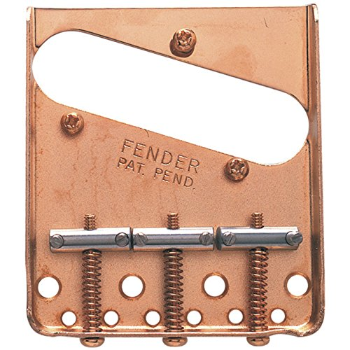 Fender 099-0806-200 3-Saddle American Vintage Telecaster Bridge Assembly with Chromed-Brass Saddles (Gold)