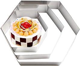 Woais DIY Bakeware Cake Pan Baking Mould Kitchen Bakeware Baking Tools Hexagon Shape Nonstick Pastry Cakes Tray(8 in)