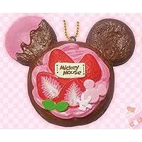【ディズニーミッキー】ぷにぷにマスコット/ボールチェーン付き(ストロベリー) デニッシュ Sweets Party 628114