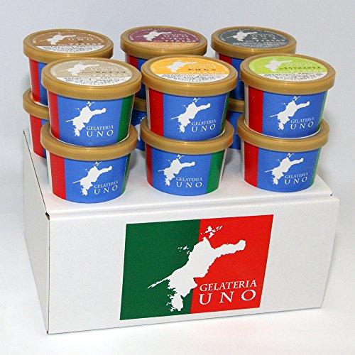 まったり系ジェラート アイスクリーム 12個 ギフト ピスタチオ 黒ゴマ 栗 かぼちゃ ヘーゼルナッツ 安納芋