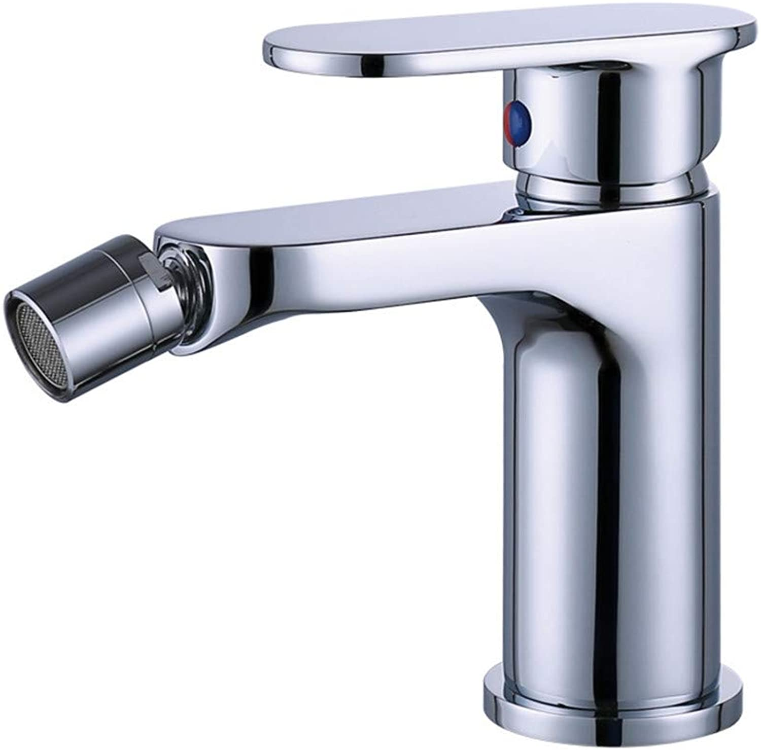 JONTON Taps Taps Taps Copper Hot And Cold Activity Spout Faucet Plating Thickening Wide Handle Long Mouth Above Counter Basin Faucet