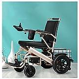 HXCD Silla de Ruedas Ligera, Silla de Ruedas eléctrica Plegable rápida, sillas de Ruedas eléctricas para Interiores y Exteriores, batería de Litio, sillas de Ruedas seguras y fáciles de Conducir