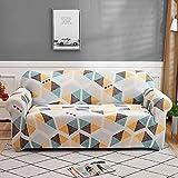 MKQB Funda de sofá de celosía geométrica Cuadrada, Funda de sofá elástica de combinación de Esquina para Sala de Estar, Funda de sofá de protección para Mascotas NO.7 S (90-140cm