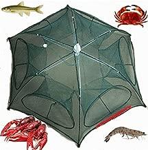 KaruSale Fishing Bait Trap Crab Net Crawdad Shrimp Cast Dip Cage Fish Minnow Foldable New