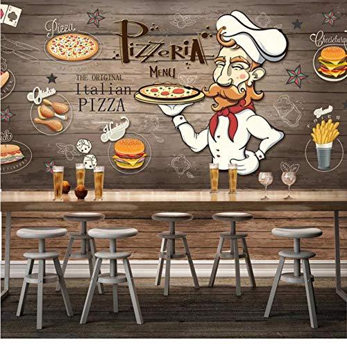 3D Cartoon Restaurant cola Burger Fries Behang Niet-geweven Muurschildering Home Decoratie Hotel Woonkamer Slaapkamer TV Muur Restaurant Muur 200(w) x140(H) cm