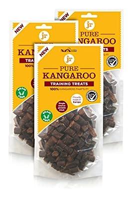JR's 100% Pure dried fresh meat Kangaroo Training Treats for dogs (3 x 85g)