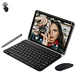 Tablet 10 Pulgadas 4G Full HD 4GB de RAM 64GB de ROM Android 9.0 Certificado por Google GMS Tablet PC Batería 8500mAh Quad Core Dual SIM 8MP Cámara Google Netflix WiFi Bluetooth GPS OTG(Negro)