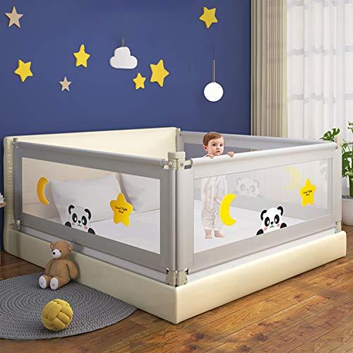 Kacsoo Barriera Letto Sponda di Sicurezza Portatile per Bambini Sollevamento Verticale 72-100 cm...