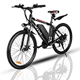VIVI 500W Electric Bike, Adult Electric Bikes, 26' Mountain Bike with 10.5Ah Battery, 20 Mph Speed/Recharge Mileage 35 Mile/ 4 Working Mode