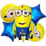 Globos de papel de aluminio - Tomicy Decoración de cumpleaños para niños Globo de cumpleaños Globos de helio Juego de decoración 5PCS