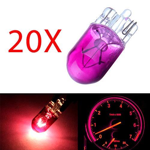 cciyu T10 194 168 Instrument Cluster Gauge Dash Halogen Bulb Replacement fit for Interior Light(20Pack Purple)