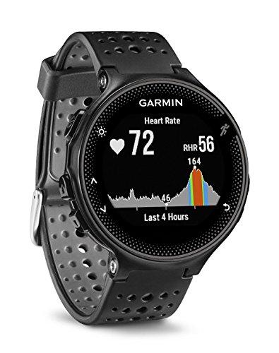 Garmin Forerunner 235 - Reloj con pulsómetro en la muñeca, Unisex, Color Negro y Gris, Talla única (Reacondicionado)
