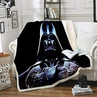 SIZOO - Blankets - Darth Vader Black Blanket Stars Wars Sherpa Fleece Travel Office Blanket Sofa Bed Cover Custom Warm Hom...