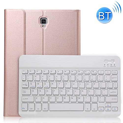 MFENG STORE A830 Ultra-thin Detachable Bluetooth Keyboard Leather Case for Galaxy Tab S4 10.5 T830 / T835, with Holder(Black) (Color : Rose Gold)