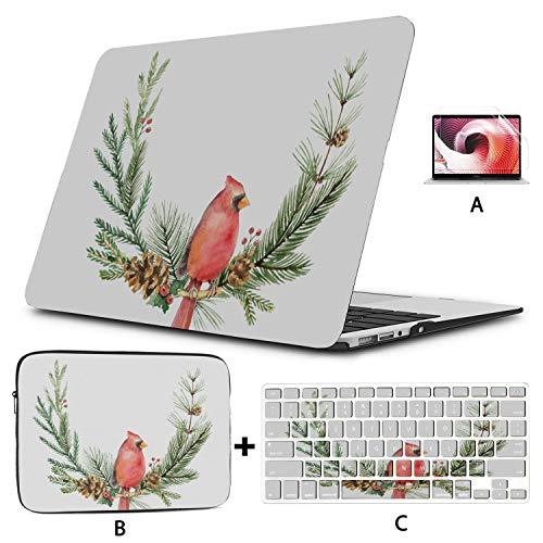 Cubierta para computadora Mac Cardinal Red Bird con Campanas Estuche para computadora portátil Macbook Pro Hard Shell Mac Air 11'/ 13' Pro 13'/ 15' / 16'con Funda para portátil para Macbook Versió