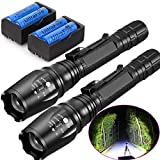 TWO Sets 20000 Lumens 5 Modes T6 LED Flashlight 18650 Battery+Charger Free s\Shipping