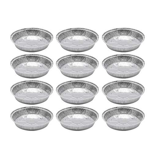 PIXNOR Bandejas Redondas de Papel de Aluminio de Tazones de Papel de Estaño Bandejas Desechables Tazones de Papel para Pasteles Caseros Galletas de Chocolate Recalentamiento de Imagen 1