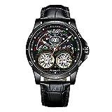 HJkkls AILANG reloj hombres, 2021 nuevo doble Tourbillon automático 30m impermeable suizo mecánico reloj de moda