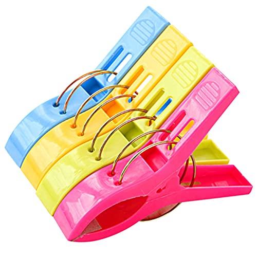 LJGFH Fournitures de Bureau 4pcs Coupe-lit Coupe-lit Clip de lit de lit de Grande Taille Multicolore vêtements en Plastique Multicolore Pinces à Linge pour Couette Suspendue et séchage Durable