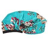 HSJWOSA Protector 2pcs Long Satin Bonnet Cap de Dormir Banda Ancha Elástica Satin Bynet Sleeping Night Cap Hat Compatible con el Pelo Largo y Rizado Natural Estirable (Color : Style 3)